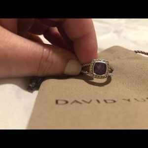 David Yurman Petite Albion Ring Amethyst Size 7